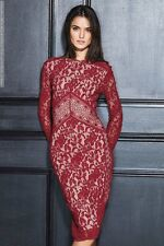 Next Lace Bodycon Dress Red 14Tall