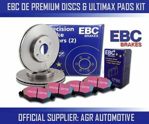 EBC FRONT DISCS PADS 300mm FOR VOLVO V40 CROSS COUNTRY 1.6 TURBO T4 180HP 2012-