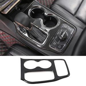 For Jeep Grand Cherokee 16-20 Carbon Fiber Shift Interior Gear Cover Panel Trim