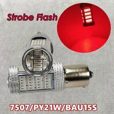 Strobe Front Turn Signal BAU15S 7507 PY21W 92 LED Red Bulb Lamp W1 JAE