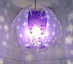 SELF ASSEMBLY PURPLE STAR THE ORB STUNNING LAMPSHADE LIGHT SHADE COOL