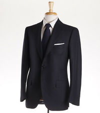NWT $6400 CESARE ATTOLINI Dark Gray Stripe Brushed Wool Suit Slim 40 R (Eu50)