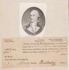A2616: John P.G.Muhlenburg Signé Document