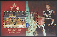 2013 Diamond Jubilee Coronation Queen Elizabeth II - MUH Mini Sheet