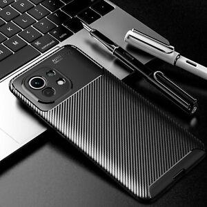For Xiaomi Mi 11, Luxury Shockproof Business Carbon Fiber Soft Case Cover