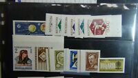 Hungary Imperf stamp selection on stock w/ souv. sheets and sets as shown MNH