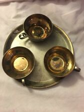 Russian Silver Plate Gold Wash Coffee Set