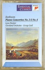 SONY CASSETTE 1992 Beethoven FLEISHER Piano Concertos #2 & #4 SZELL SBT-48165