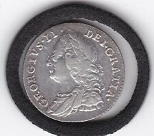 Sharp  1758   King   George   II  Sixpence  (6d)  Sterling  Silver  Coin