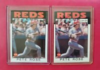 1986 Topps & O-Pee-Chee #1 PETE ROSE (NM-MT) 2 Card Lot! *SWEET CARDS* FREE SHIP