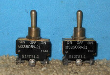 ~Pair 3-Position On-Off-On MicroSwitch MS35059-21 Toggle Switch 512TS1-1