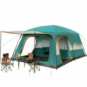 Two bedroom And One living Tent Outdoor Waterproof Camping Hiking Shelter 5-8