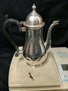 Antique Solid Silver Hot Water/coffee Jug elkington co, ltd 1935 295g