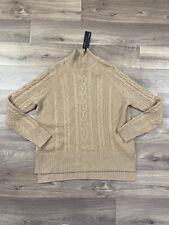 Autograph Pure Cashmere Brown Cable-knit Jumper UK Size 12 BNWT