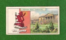 TATTON PARK EARL EGERTON of TATTON Family Crest Arms Cheshire 1909 print card