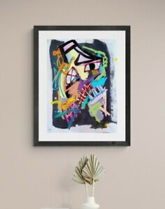 PLAGUE DOCTOR EXPRESSIONIST ART PAINTING FINE ART ORIGINAL ABSTRACT WALL OFFICE