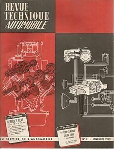 REVUE TECHNIQUE AUTOMOBILE 211 RTA 1963 MERCEDES BENZ 220 b 220 Sb W111 1959 63