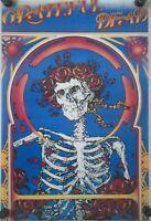 "GRATEFUL DEAD / Original Poster 1984 / Skull & Roses / New cond. / 21 5/8 x 33"""