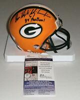 PACKERS Don Majkowski signed mini helmet w/ 1989 Pro Bowl JSA COA AUTO Autograph