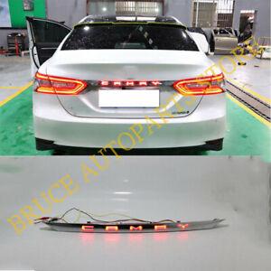 For Toyota Camry 2018-2021 Rear Chrome Trunk Light Lamp LED w/ Dynamic Signal j