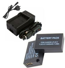 2Pcs LP-E17 1040mAh Battery + Charger For Canon EOS M3 750D 760D 77D 800D Camera