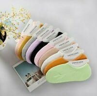 10 Pairs Womens Cotton Invisible No Show Nonslip Loafer Boat Multicolor Socks