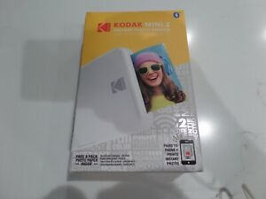 Kodak Mini 2 HD Wireless Portable Mobile Instant Photo Printer, White NEW SEALED