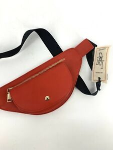 Like Dreams NWT Faux Red Leather Belt Bag / Fanny Pack Or Travel shoulder bag