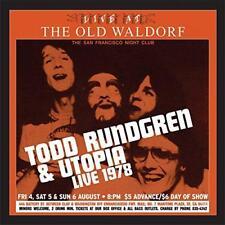 Todd Rundgren et Utopia-Live at the Old waldolf (New 2 VINYL LP)