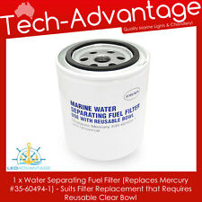 BOAT WATER SEPARATING FUEL FILTER SUITS REUSEABLE BOWL (MERCURY 35-60494-1)