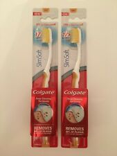 2X Colgate Slim Soft Ultra Compact Toothbrush   2 PACKS - NEW & SEALED - GOLD