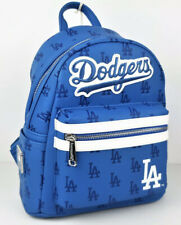 Loungefly MLB Los Angeles Dodgers Mini Backpack Blue Faux Leather AOP LA Logo