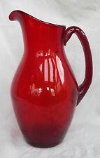 Vintage Bristol Ruby Glass Jug / Vase