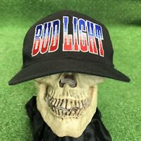 True Vintage Bid Light Red White Blue Bomb POP Snapback Hat Cap