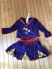Kim Possible Childrens CheerLeader Purple Halloween Costume Size XS