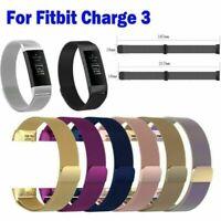 Edelstahl Milanese Magnet Ersatz Armband Wrist Band Strap für Fitbit Charge3 Neu