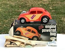 VINTAGE TESTORS SUPER BETTLE VW BUG .049 GAS POWERED TETHER CAR WITH BOX