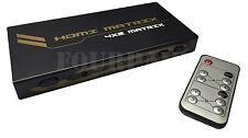 4x2 HDMI True Matrix Switch Splitter Selector Remote Control 3D 1080P 4-in 2-out