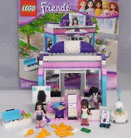 Lego Friends 3187 Schönheitssalon Sarah Emma Brunnen Bank Handtasche kompl BA #9