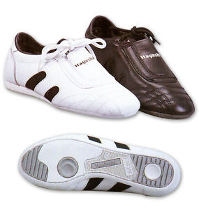 Leather Martial Art Shoes -Hayashi - Taekwondo ,Karate ,Gym - White - SALE--