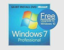 WINDOWS 7 PROFESSIONAL PRO LICENSE KEY + 64 BIT PRO FULL INSTALL DVD + M-BOARD