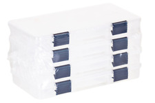 Plano Tackle Boxes,4 pack of 3500 Prolatch Stowaway Tackle Utility Boxes, Blue