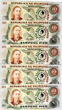 LOT Philippines, 5 x 10 Piso, 1981, Commemorative, Pick 167, UNC