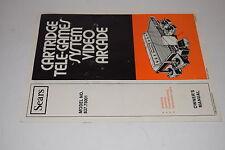 Sears Atari 2600 6-Switch Woodgrain Model 637.75001 Owners Manual 1980