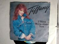 """7"""" TIFFANY I THINK WE'RE ALONE NOW NO RULES COVER VG VINILE VG+"""