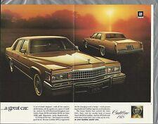 1978 CADILLAC FLEETWOOD 3-page advertisement, Cadillac ad, Fleetwood Brougham