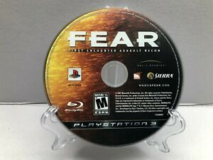 F.E.A.R.: First Encounter Assault Recon (PlayStation 3, 2007) Disc Clean Tested