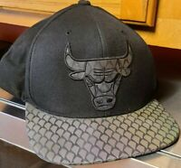 Mitchell And Ness NBA Black Chicago Bulls Snapback Color Flipping Bill Hat Cap
