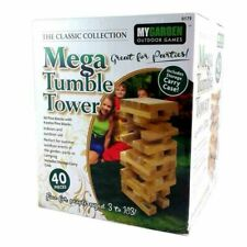40pc Giant Jenga Wooden Tumbling Tower Blocks Outdoor Garden Family Fun Game
