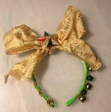 Ugly Gaudy Christmas Ladies Girl Sweater Party TACKY Headband Crown Big Gold Bow